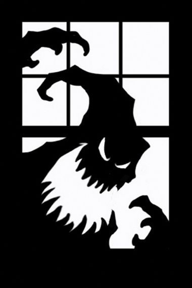 Oogie boogie silhouette this is halloween pinterest for Fenetre qui fait peur