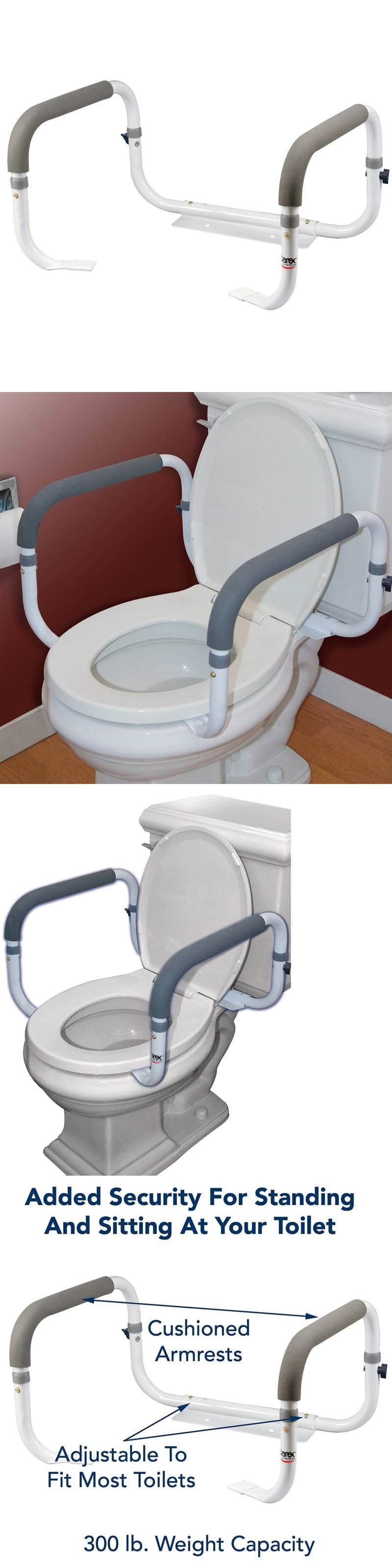Toilet safety frame rail bathroom grab bars seat medical support