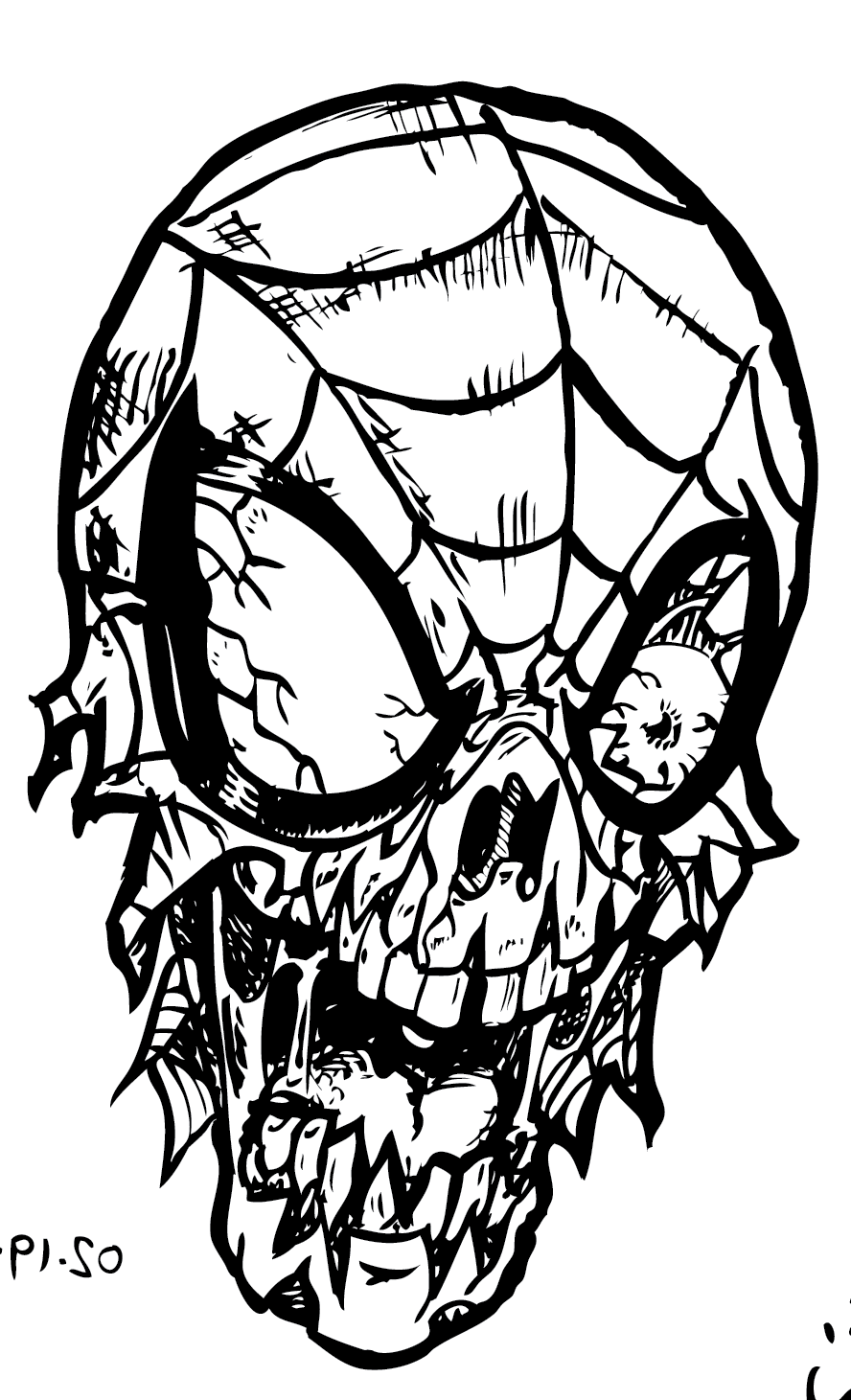 Ic Zombie Colouring S Coloring Pages In Cartoon