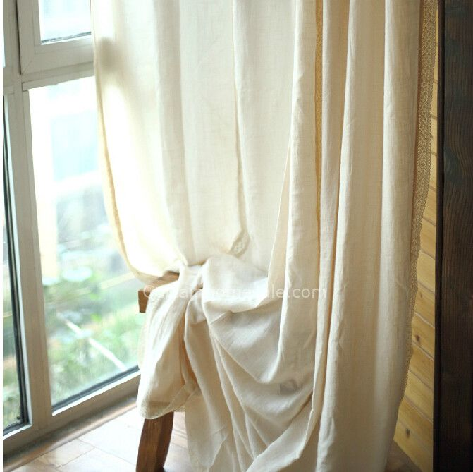 Wonderful Cotton And Linen Fabric Extra Long Sheer Curtains