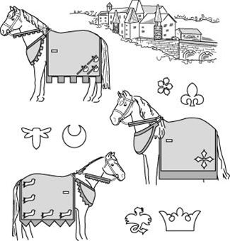 Medieval horse costume pattern with rump cover diy sewing medieval horse costume pattern with rump cover solutioingenieria Gallery