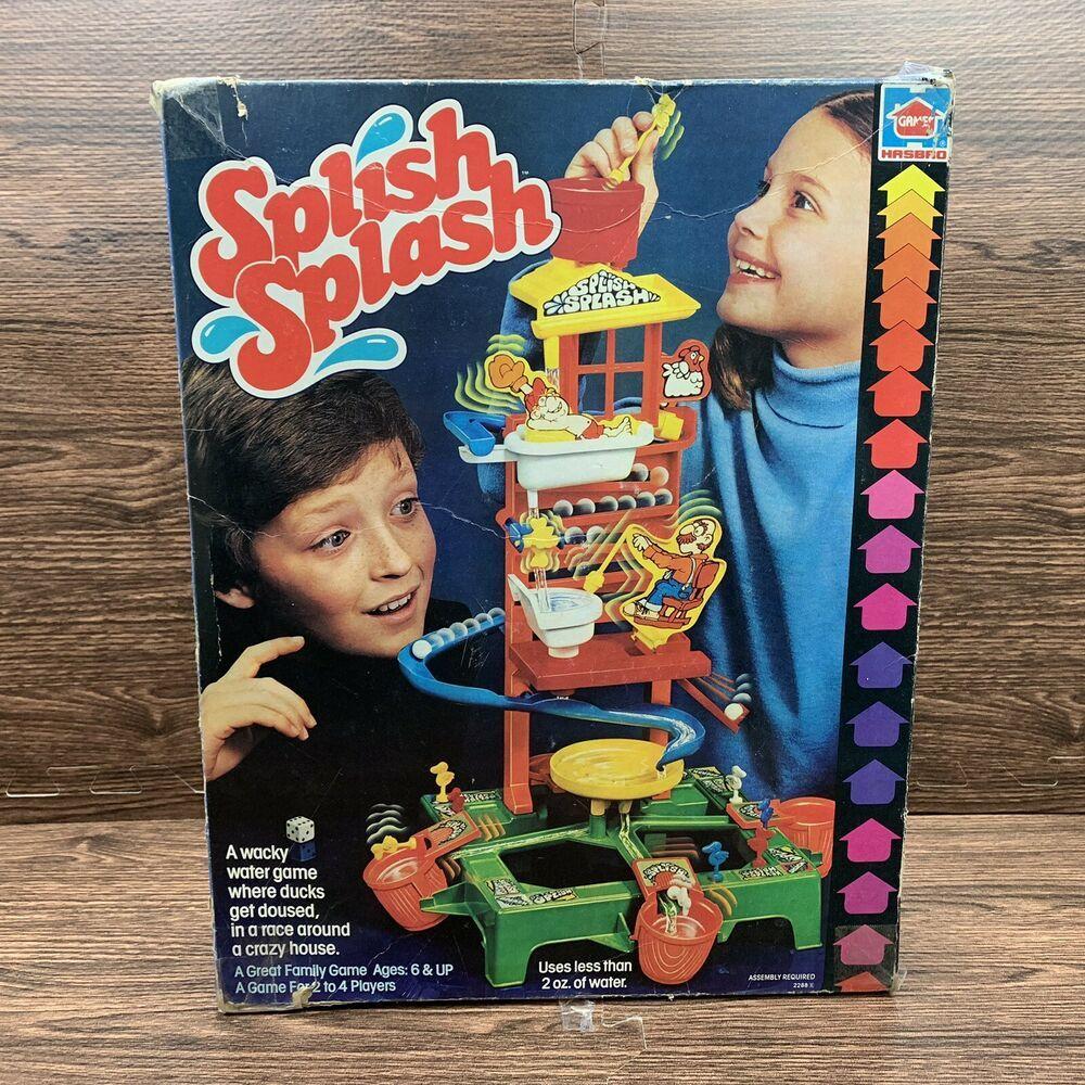 Vintage Hasbro SPLISH SPLASH Water Game 1981 Complete Rare