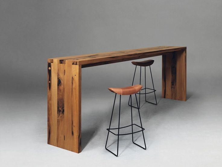 Resultado de imagem para bancada alta de madeira para bar for Mesa alta madera bar