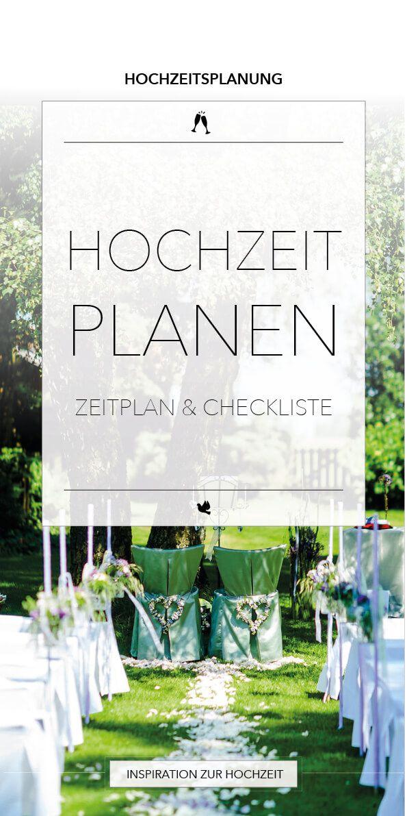 Hochzeitsplanung - Zeitplan & Checkliste für die Planung der ...