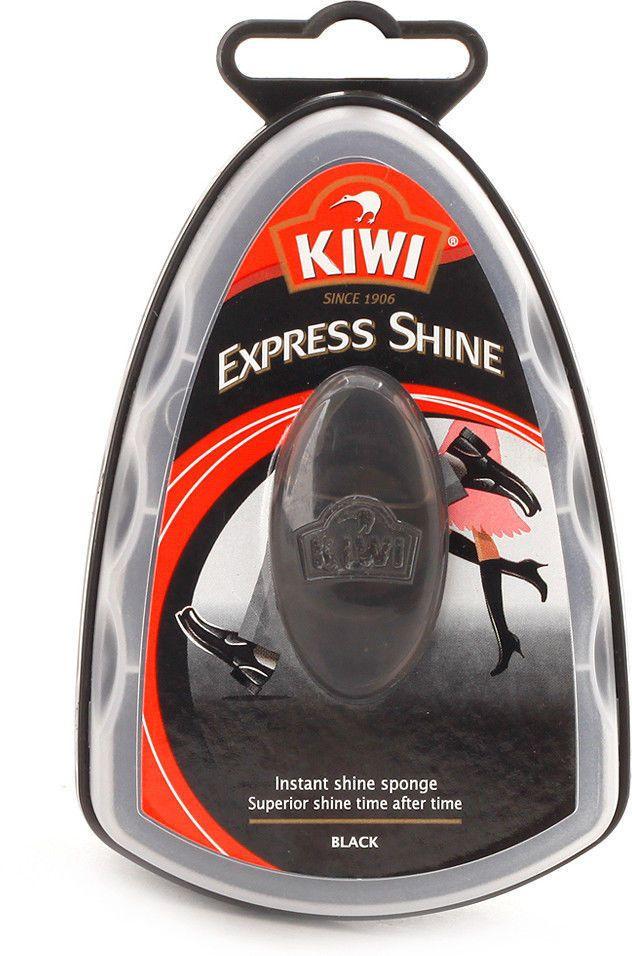 Kiwi Express Shine Shoe Polish Instant Shine Sponge 7ml Black Kiwi