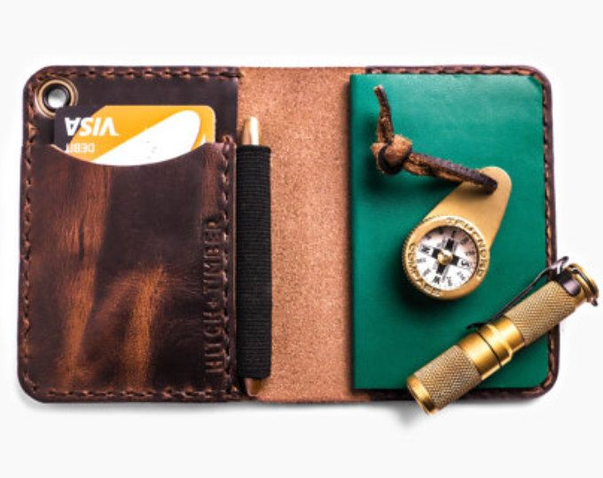 The Trucker's Hitch - Small Notebook Wallet with Pen Holder for Everyday Carry