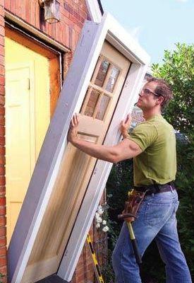 How To Install A Prehung Door Prehung Doors Installing Exterior Door Diy Home Repair
