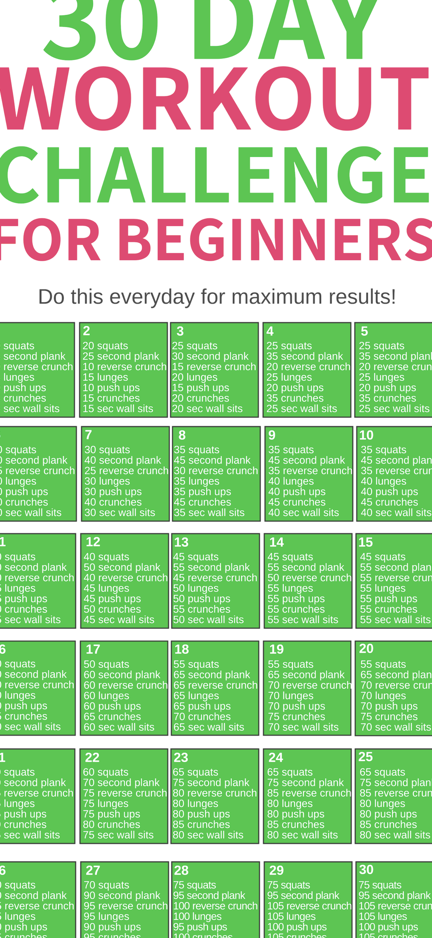 This 30 day workout challenge for beginners is THE BEST! I'm so glad I found this awesome workout ch...