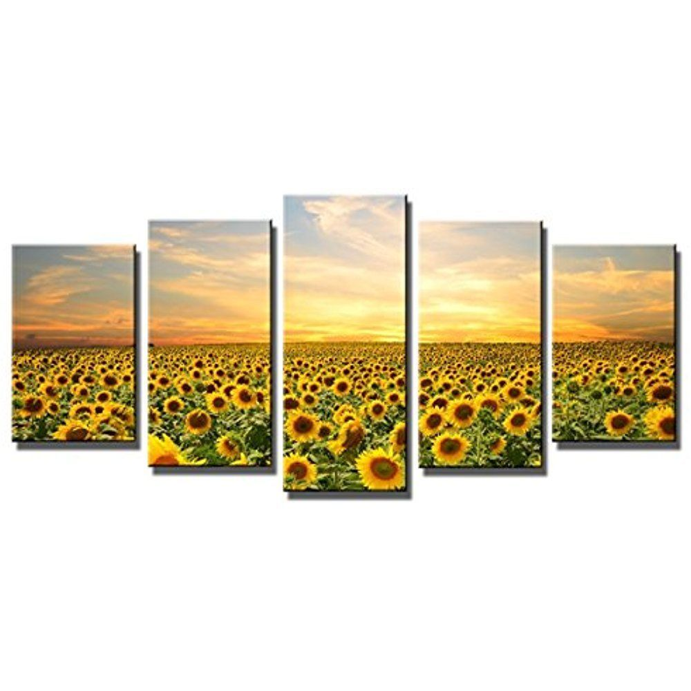 Framed] Sunflowers Nature Landscape Canvas Art Prints Picture Wall ...