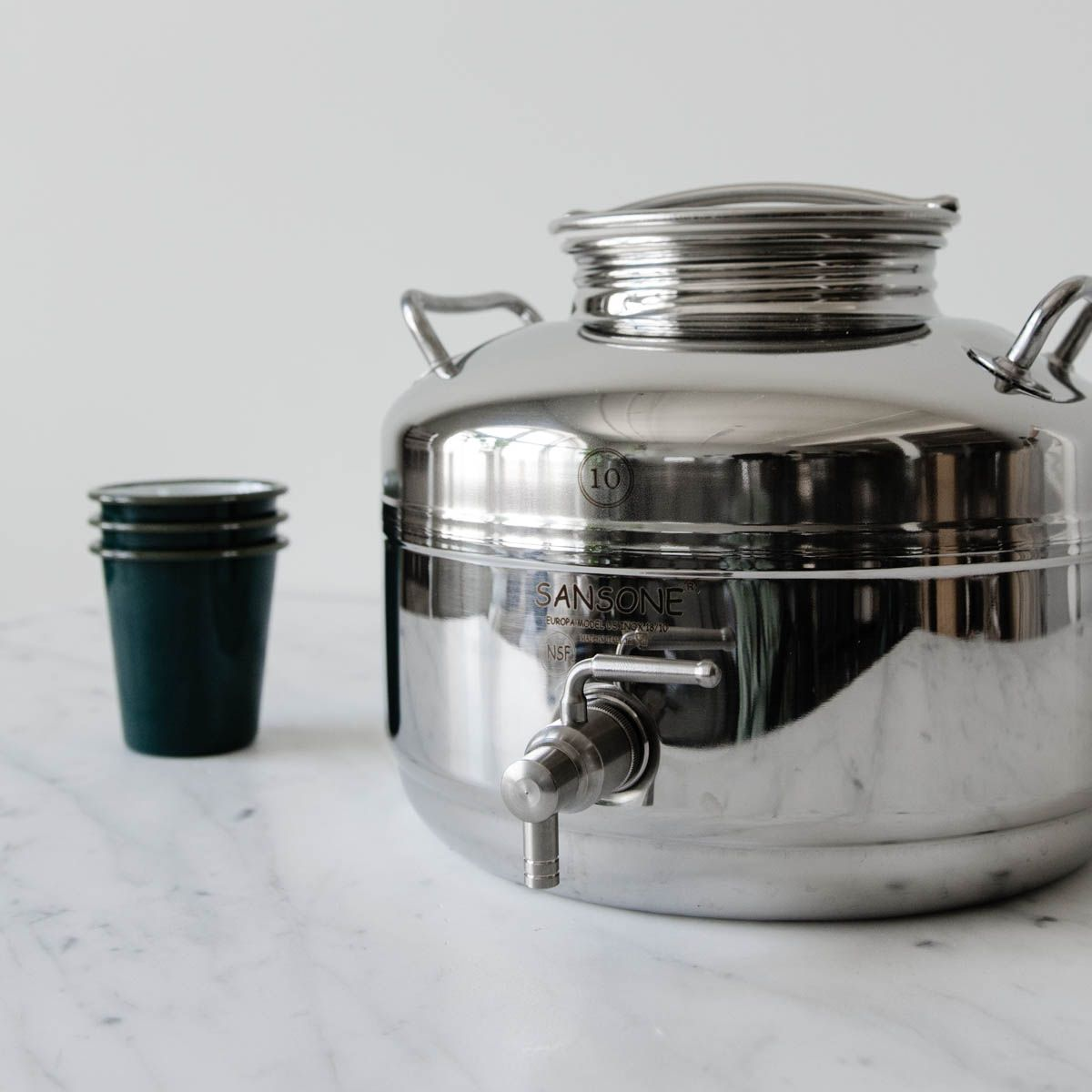 A Fusti Is An Italian Stainless Steel Dispenser That Is