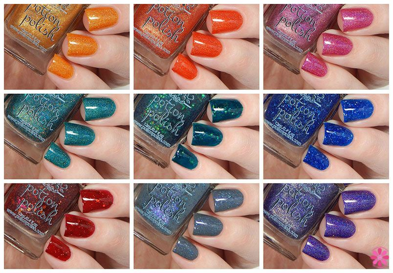 Fall for Me collection collage by Cosmetic Sanctuary. Coming August 21 to potionpolish.com!