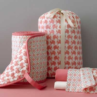 Coral bedding called Celestial Parade by Roxy. So cute but ...