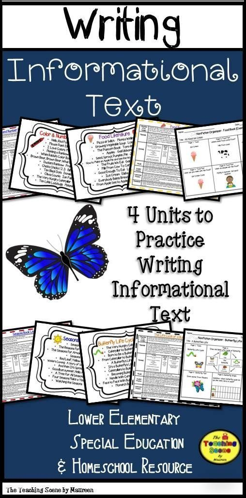 Writing Informational Text 4 Lessons  Booklet Templates Writing - unit lesson plan template