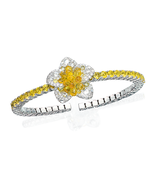 Cellini Jewelers Briolette Blossom Collection.  Yellow Sapphire Briolette Bracelet