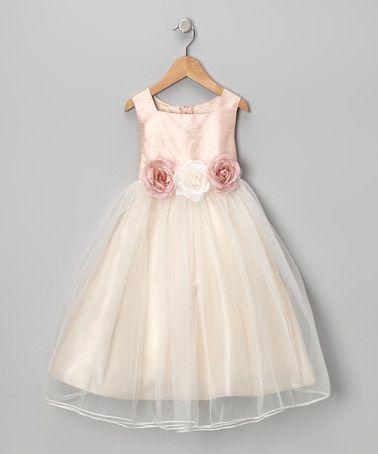 Another great find on #zulily! Dusty Rose Silk Dress - Infant, Toddler & Girls #zulilyfinds