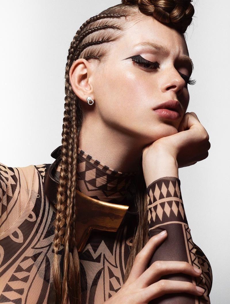 BODY LANGUAGE Bold makeup looks, Tribal hair, Hair styles