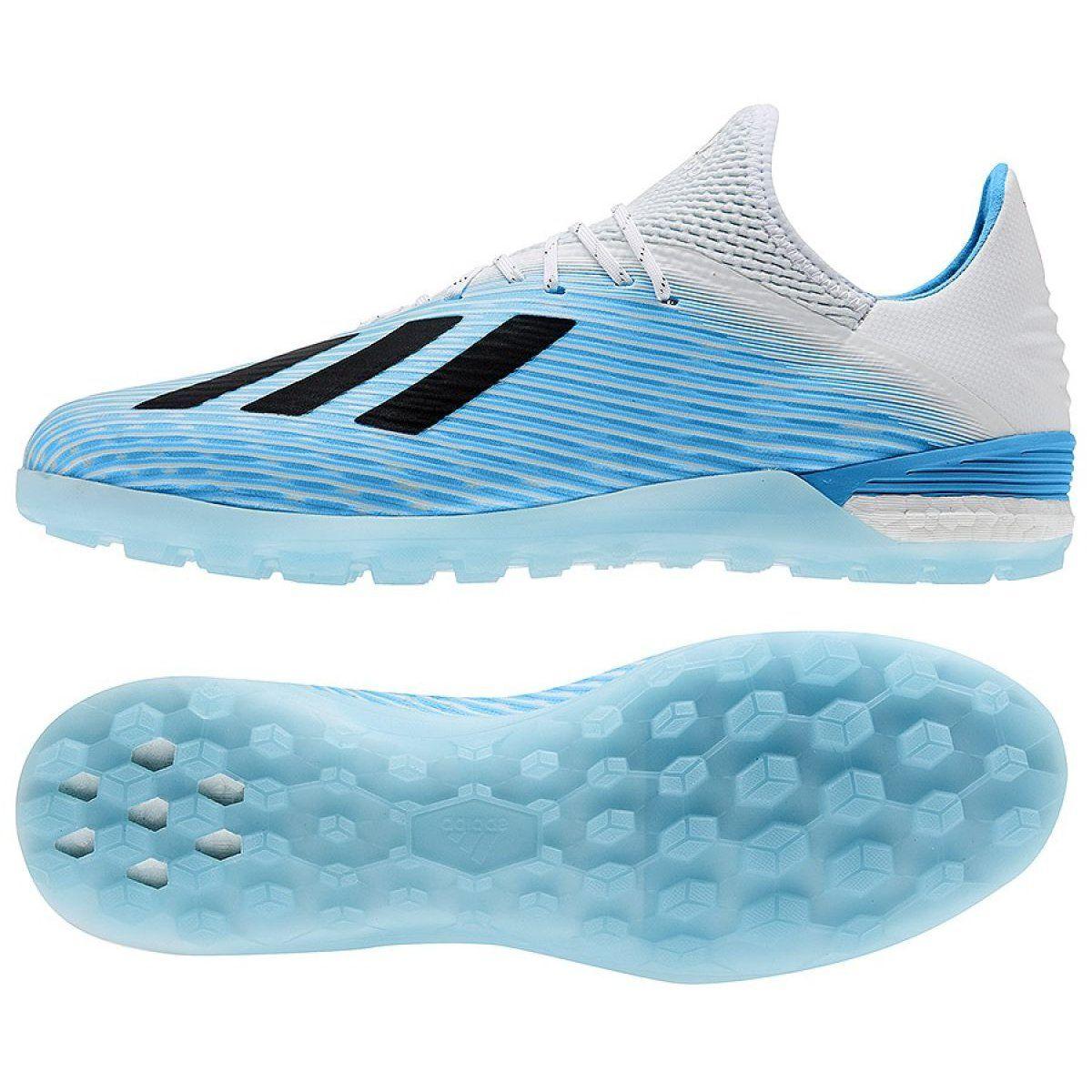 Buty Pilkarskie Adidas X 19 1 Tf M F99999 Niebieskie Biale Football Shoes Blue Shoes Adidas Football