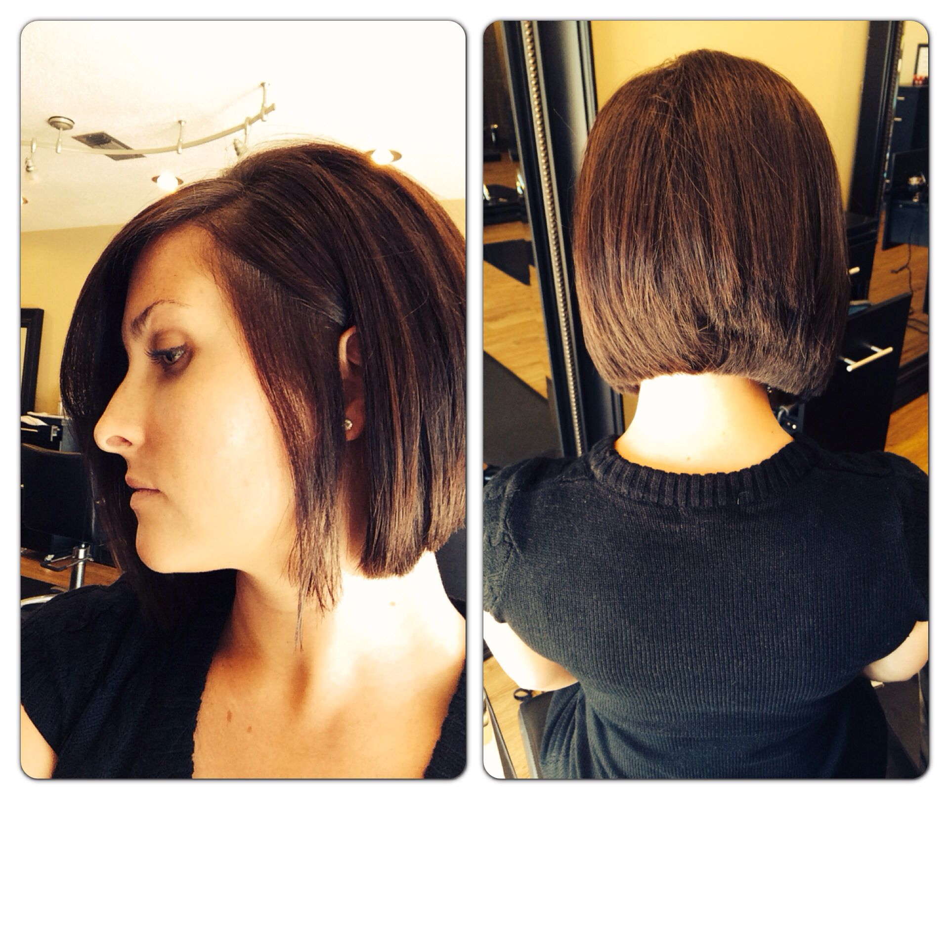 You can have an inverted bob without stacking it in the back Just