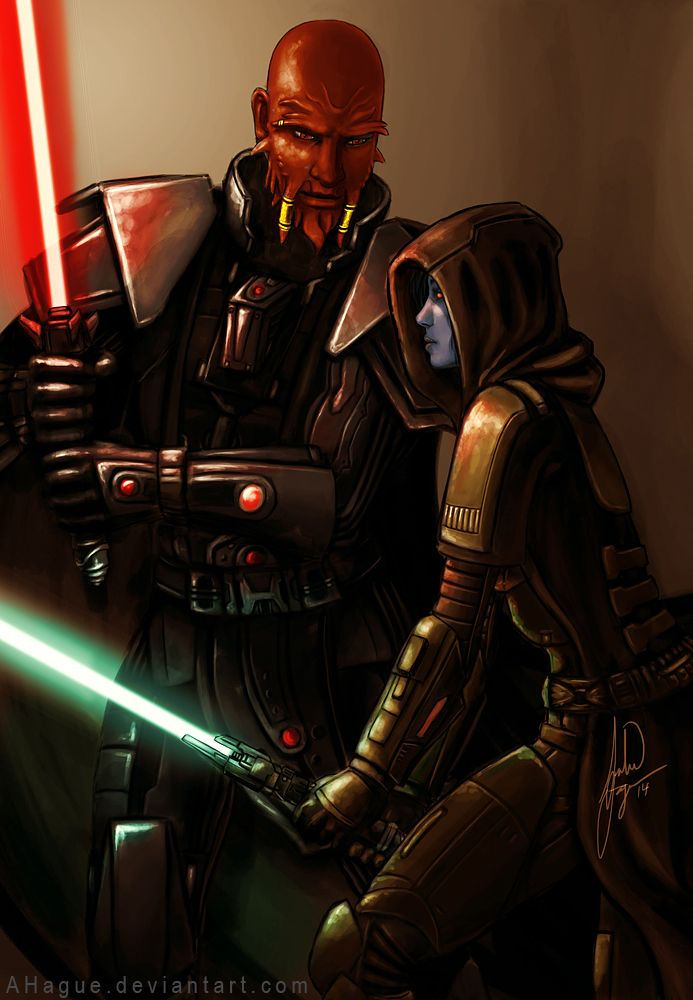 Lord Scourge and a Chiss Jedi Knight from Star Wars the Old