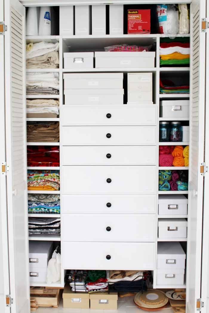 The Ultimate Craft Closet: Design And Installation | Organizations,  Organizing And Room Ideas