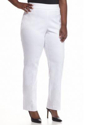 500f17d6f9233 Kim Rogers Women s Plus Size Millennium Pant (Average Length) - White - 16W