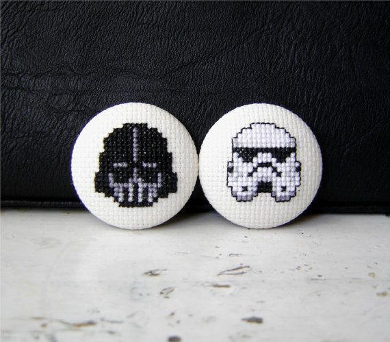 """Pack embroidery brooches """"Star Wars: welcome to the dark side"""""""
