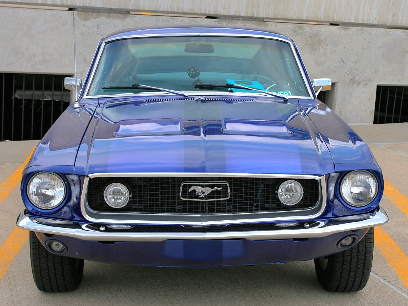 Ford Mustang Gt Fasback W Custom Wheels Acapulco Blue Poly Fv  Ww Wd Dctc