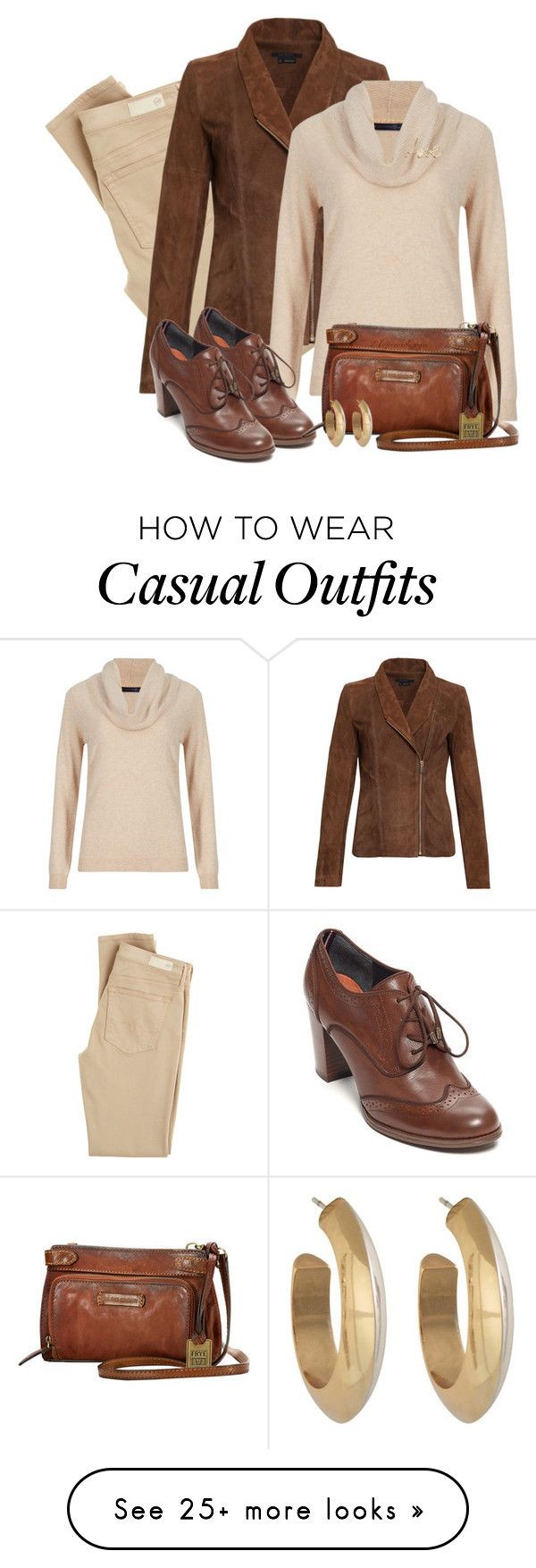 """""""CASUAL FRIDAY"""" by arjanadesign on Polyvore featuring AG Adriano Goldschmied, M&S Collection, Tommy Hilfiger, Frye, Lanvin and House of Harlow 1960"""