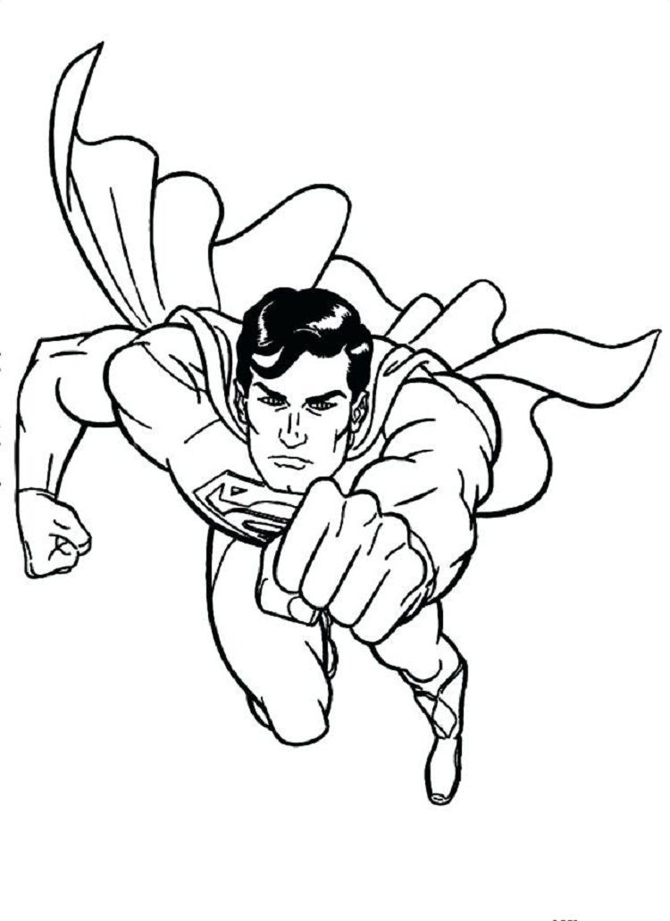 Pin By Cherlyn On Coloring Pages Ideas Colouring Pages Superman