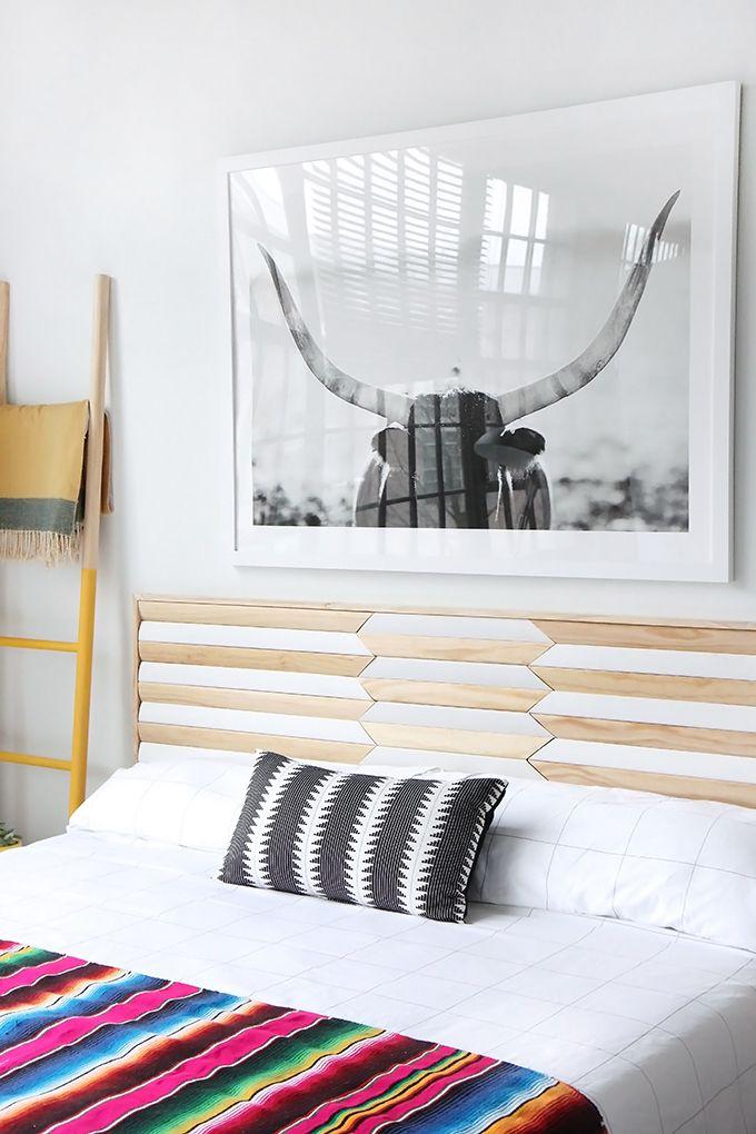 MY DIY | Geometric Wood Headboard