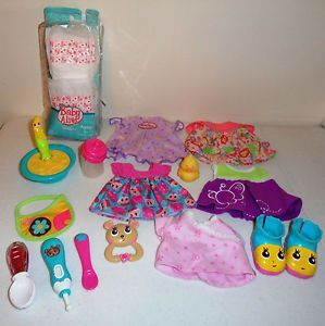 Baby Alive Doll Clothes Spoon Thermometer Diapers Bottle