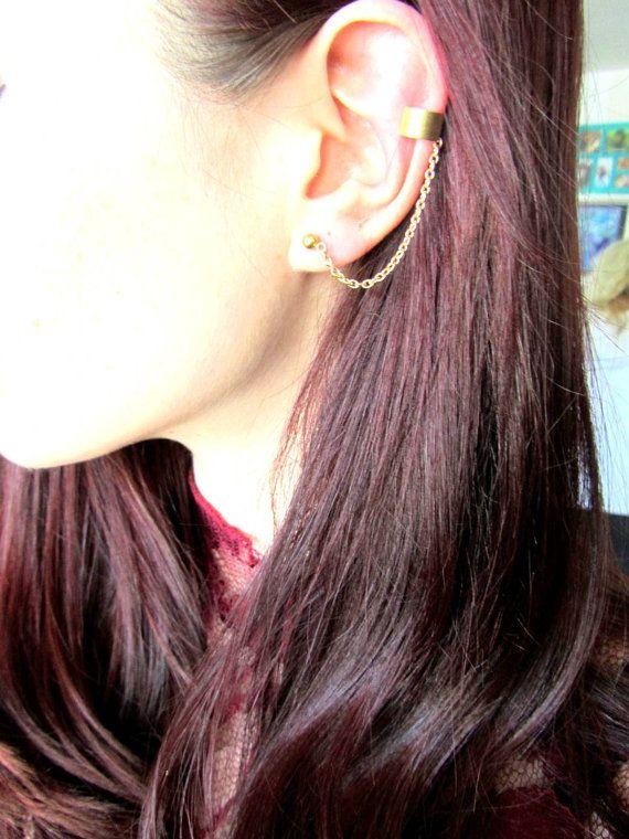 Basic rose gold ear cuff earring, basic ear cuff body jewelry