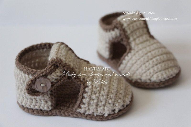 Crochet bebé sandalias sandalias de gladiador zapatillas | Mundo ...