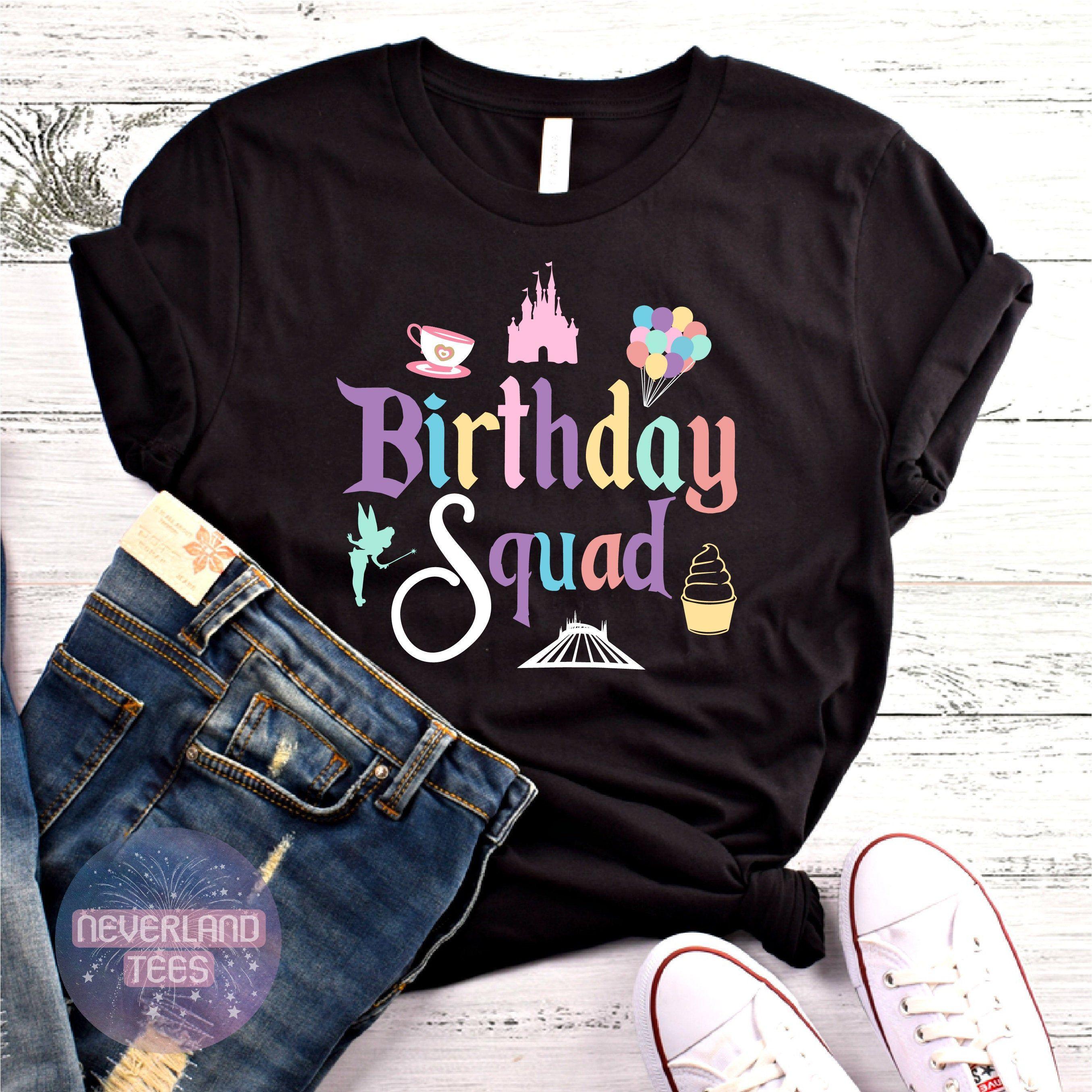 Birthday squad unisex shirt disney birthday shirt disney