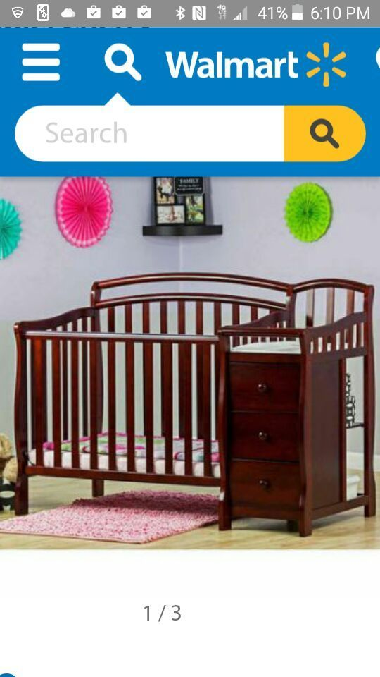 New (never used) - Dream on me 4 in 1 convertible mini crib and ...