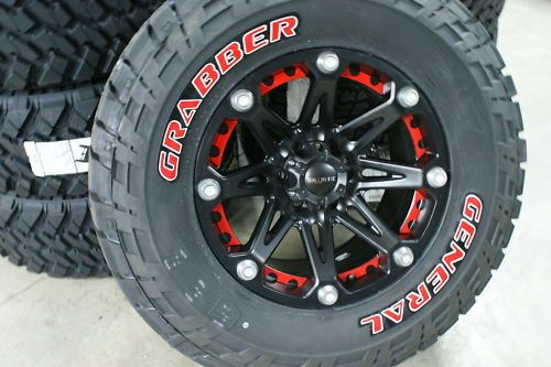35x1250 18 General Grabber Red Letter Tire Rim Package