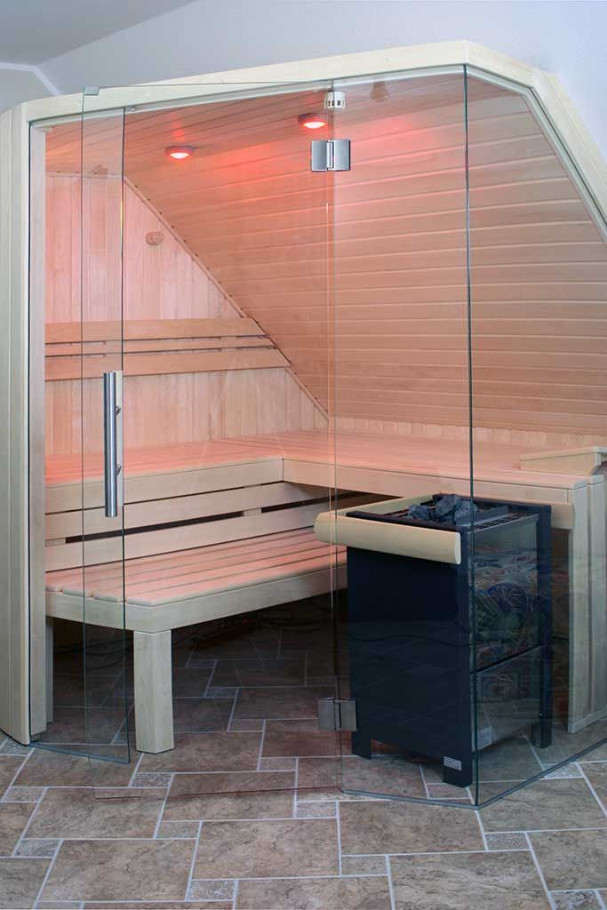 Sauna mit Glasfront unter Dachschräge – My Blog