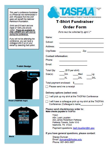 T Shirt Order Form Fundraiser T Shirt Fundraiser Shirt Order Fundraising