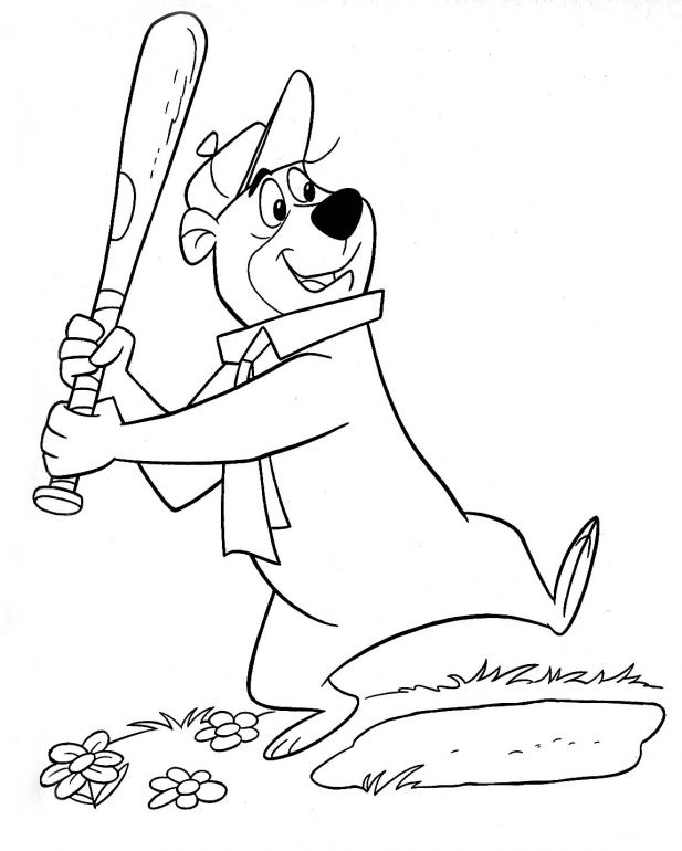 Yogi Bear Color Pictures Online Coloring Pages Baseball Coloring Pages Cartoon Coloring Pages Coloring Pages