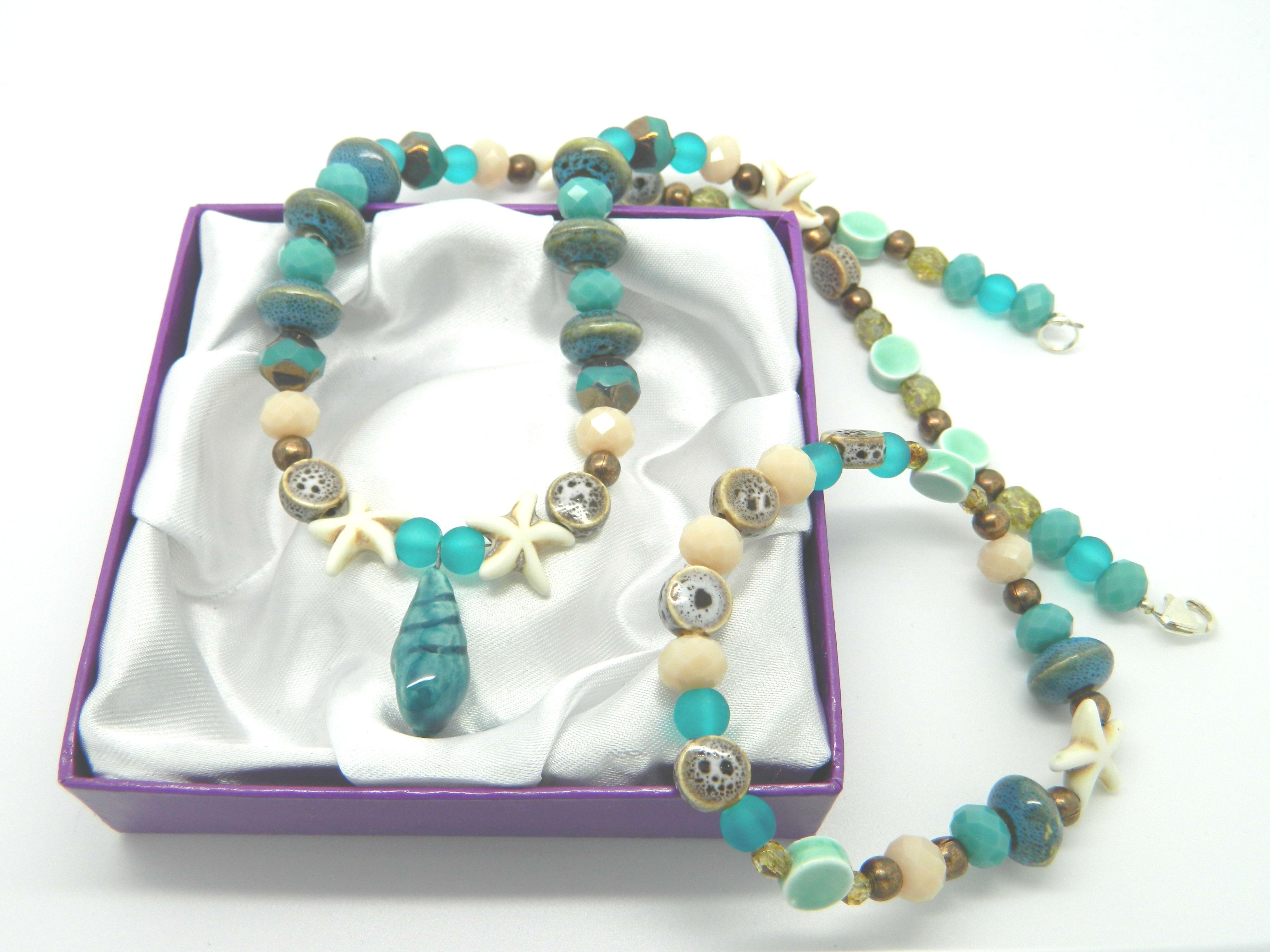 Sandy Shores inspiration bead pack necklace and bracelet set