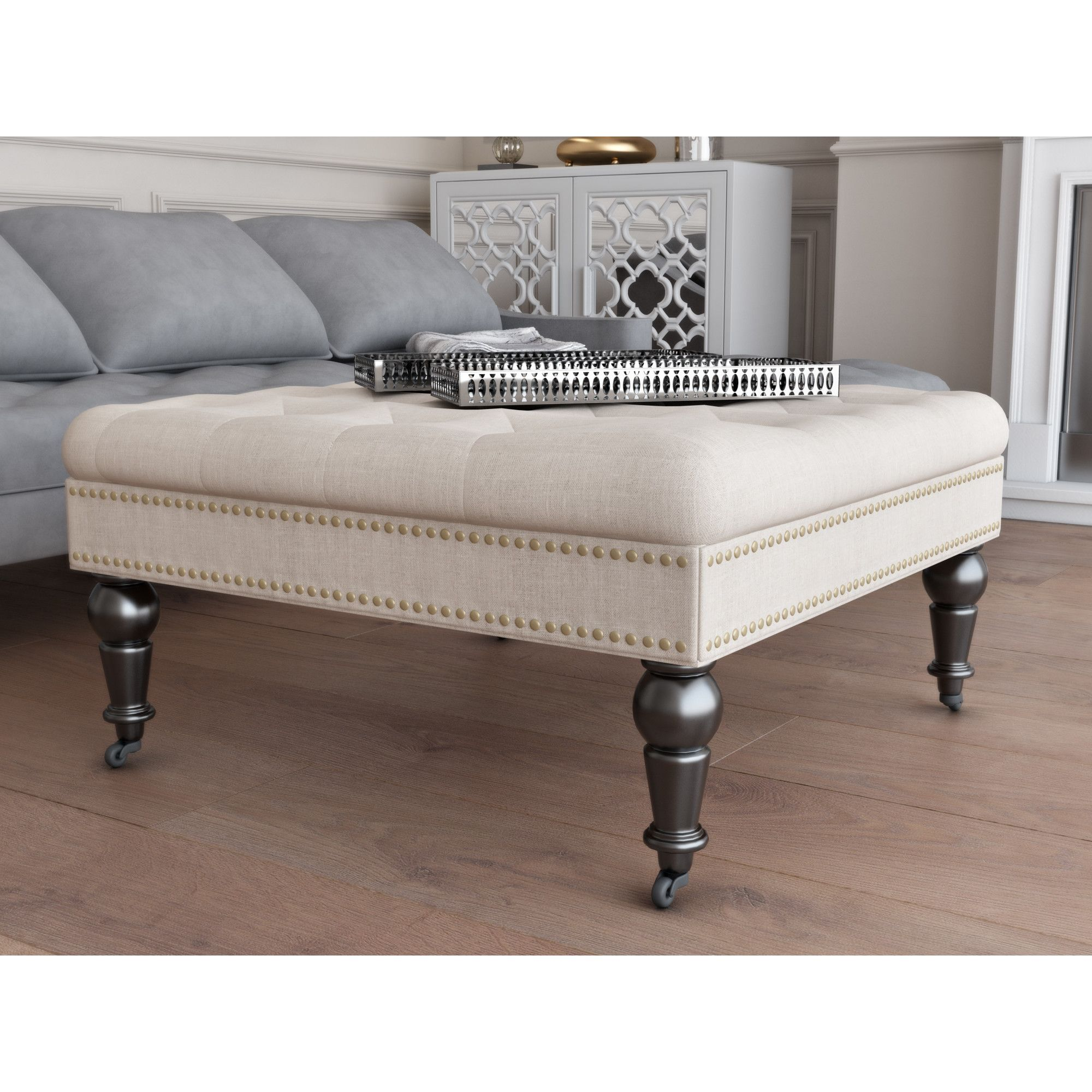 Awesome House Of Hampton Gahn Square Tufted Ottoman 132 Home Caraccident5 Cool Chair Designs And Ideas Caraccident5Info