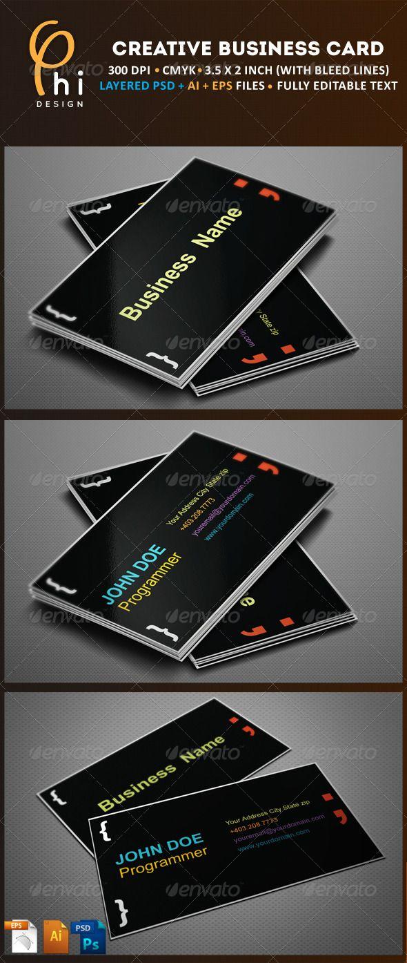 Creative Business Card Business Cards Creative Business Card Design Creative Modern Business Cards