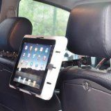 Cotytech iPad Car Headrest Mount. Optimal for iPad, iPad2, GPS, Portable DVD, DVB-T TV, Tablet PC/Notebook of 7-Inch - 14-Inch, and also LCD monitor with optional part; fits on any car headrest; Head designed by clamping ball joint, holds securely at any angle. Tilt: 180° (head & arms); Extension Range: 20.8-Inch - 24.6-Inch (53 - 62.5cm); Rotation: 360° (head & arms); Product Weight 31.76lbs (0.8kg); lower portion of the dual arm can extend, retract and rotate 360 degrees. Weight…