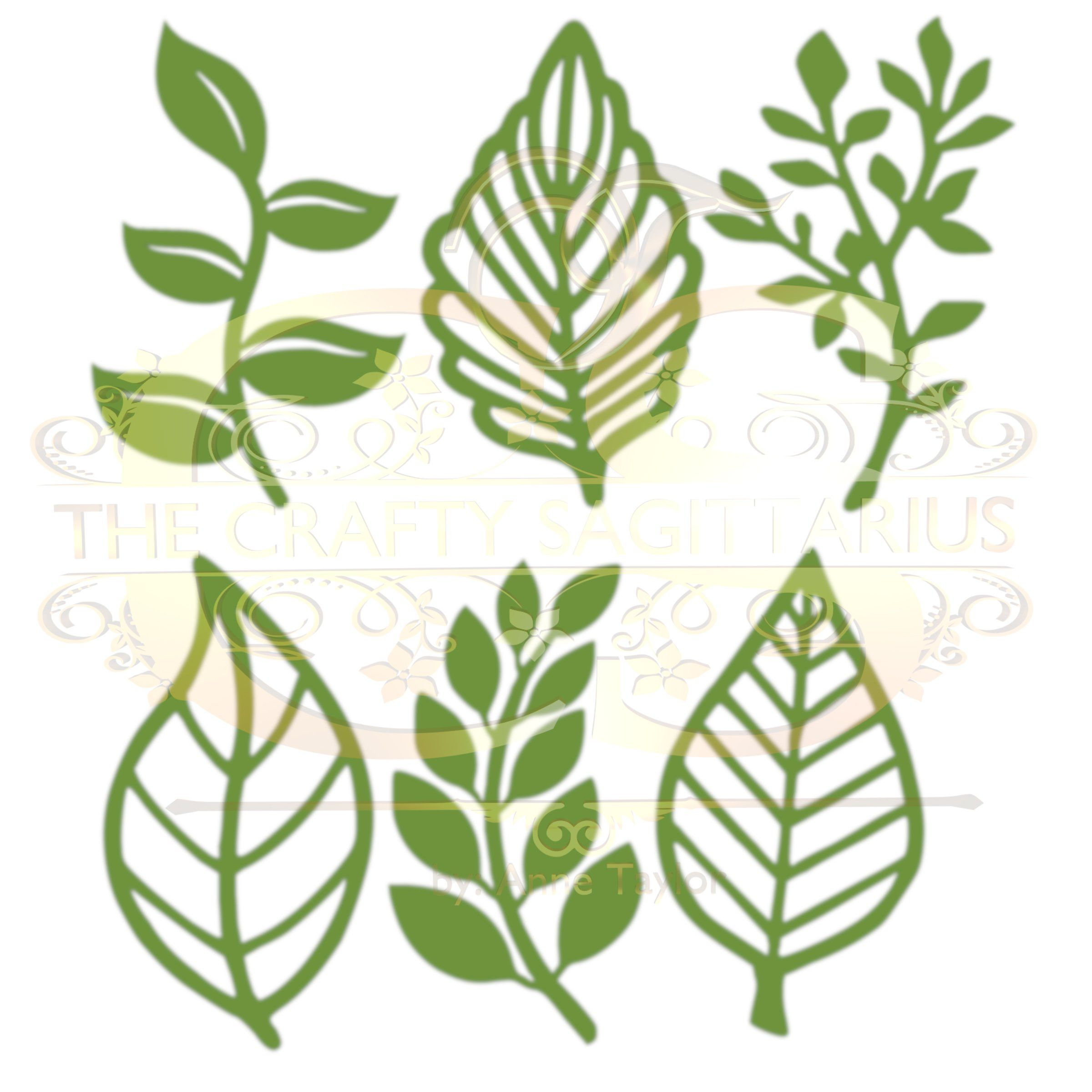 Svgpngdxf Set 8 6 Different Leaves For Paper Flowers Machine Use