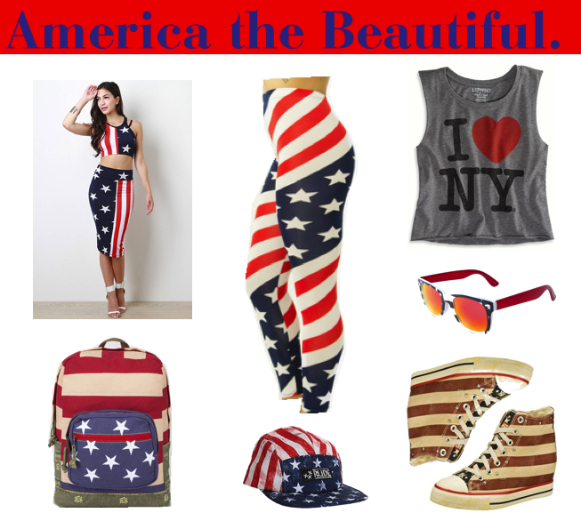 Show your love for 'Murica with these trendy Patriotic prints!  Shop more @ www.flygyal.com