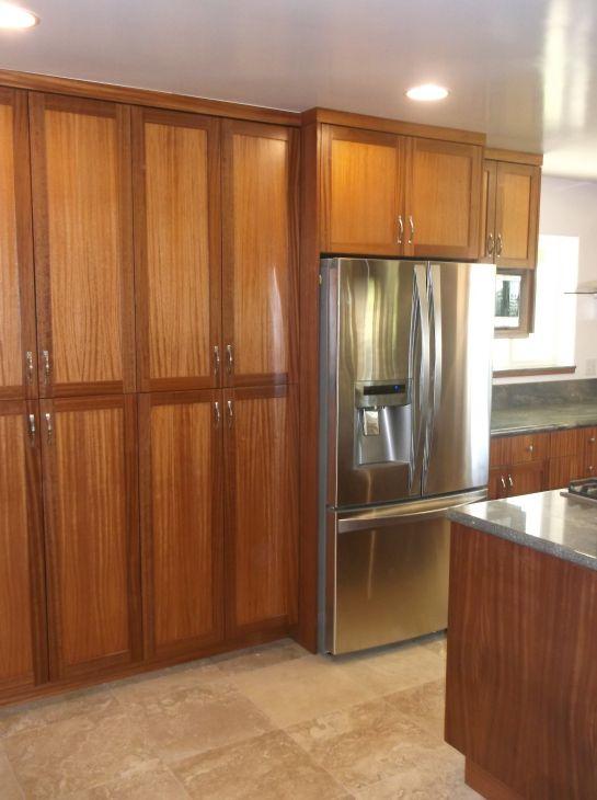 Custom Kitchen Cabinets African Mahogany.