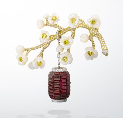 Van Cleef & Arpels: Hanami clip, Les Jardins collection
