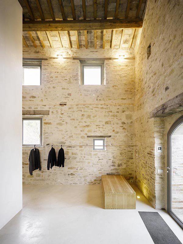 Rustic minimalism from an Italian farmhouse.