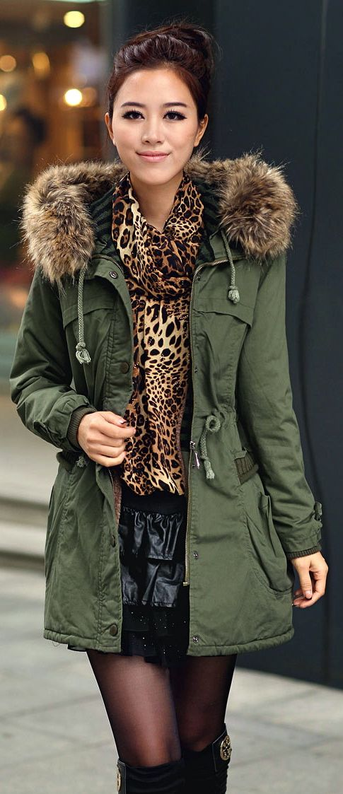 Green Womens Winter Coats Faux Fur | Cheap coats, Best christmas ...