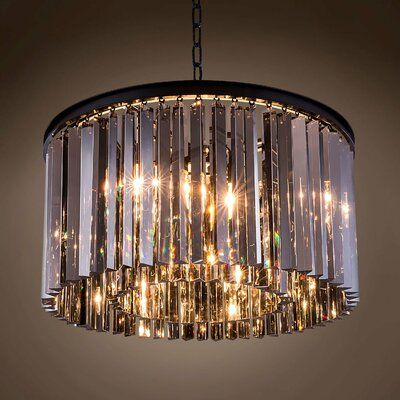 Everly Quinn Gettys 8 Light Crystal Chandelier Shade Color Golden